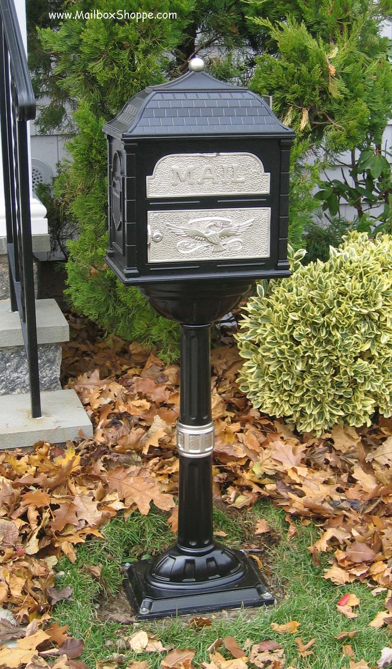 Pedestal Mailboxes Cast Iron Mailbox Large Salsbury