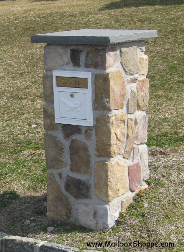 Column Mailbox Brick Mailboxes
