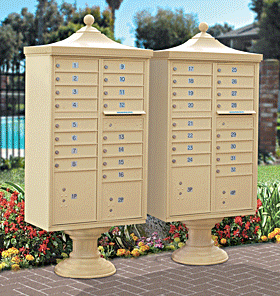 Standard Cluster Mailboxes with Upgraded Accessories