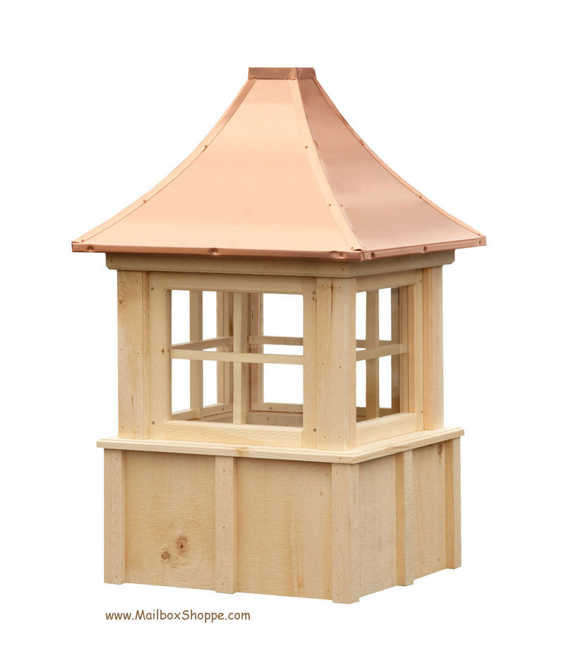 Board batten cupola with windows for Cupola windows