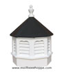 Vinyl Gazebo Cupola with black roof