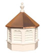 Vinyl Gazebo Cupola with copper roof