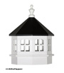 Vinyl Window Gazebo Cupola with black roof