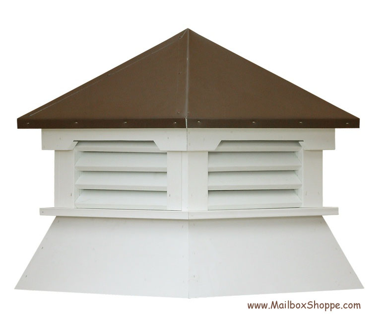 Vinyl Shed Cupola With Painted Aluminum Roof