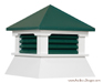Green Vinyl Shed Cupola green roof
