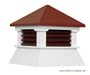 Red Vinyl Shed Cupola