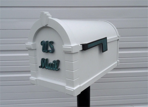 keystone mailbox white with verde
