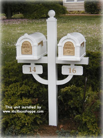 Double Mailbox Post For Keystone Double Mailbox Designer Mailbox Post Posts