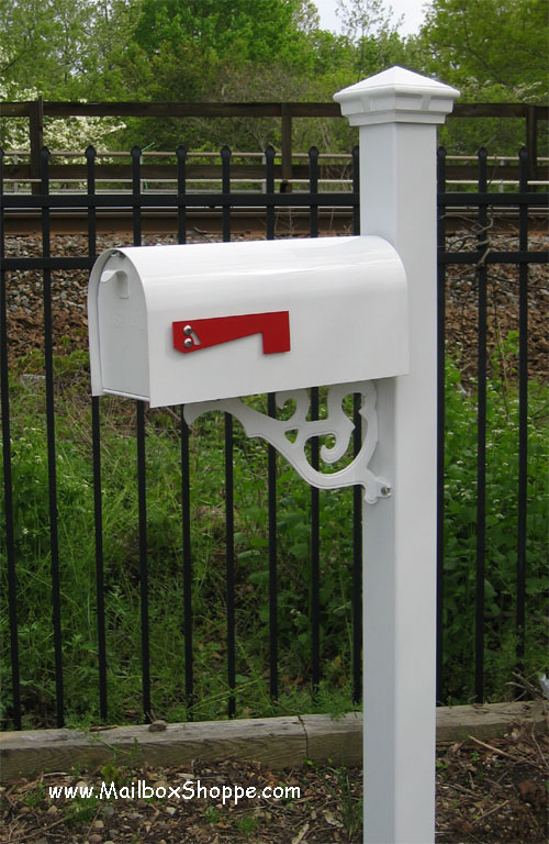 Heavy duty mailbox with decorative mailbox post for Unique mailboxes with post