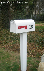 Heavy Duty Mailbox & Standard Metal Post