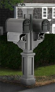 Granite Rockport Double PVC Mailbox Post