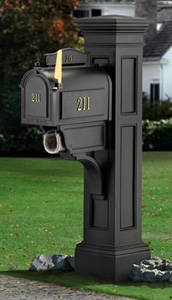 Mailbox Shoppe - Bacova Personalized Large Songbirds Post Mailboxes.