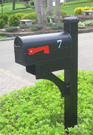 metal mailbox post