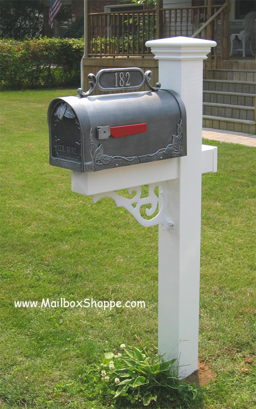 standard pvc mailbox post with decorative - Decorative Mailboxes