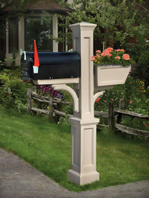 Westbrook PVC Mailbox Post