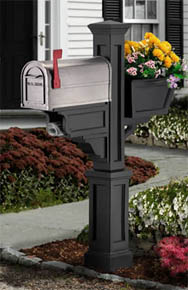 BlackSignature Plus PVC Mailbox Post
