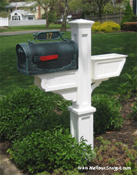Mayne Post with cast leaf mailbox