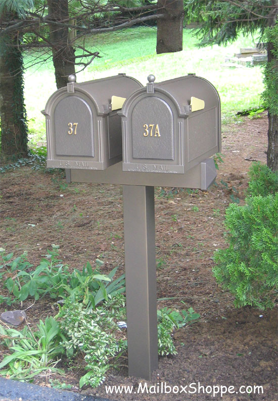 double mailbox post. Whitehall Double Mailbox Post O