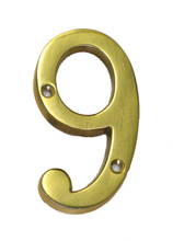 Polished Brass House Number