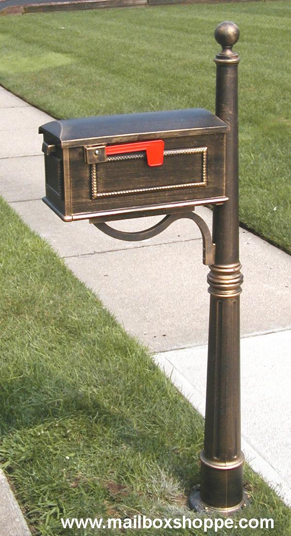 aluminum mailbox post. 600 Post With Traditional Mailbox Aluminum