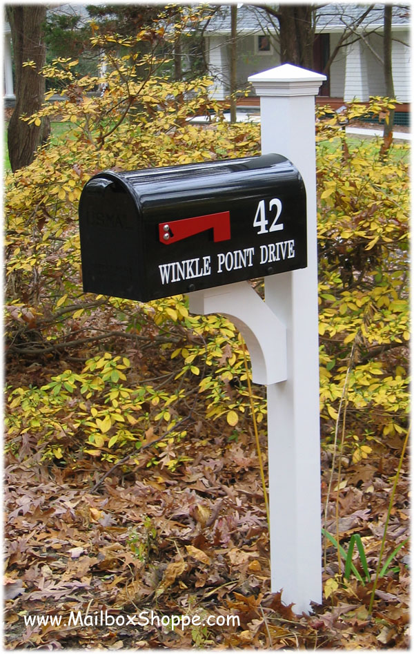 Bronze Mailbox With Post Part - 38: Newport Mailbox Cap Top Newport Post With Layout #3 Address