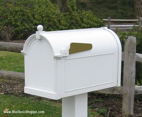 Whitehall Capital Mailbox in white