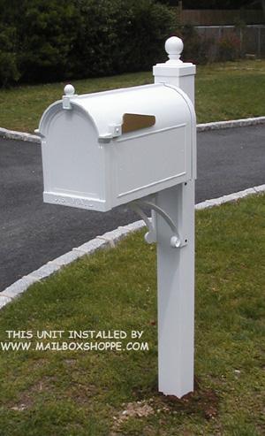 White Whitehall Mailbox