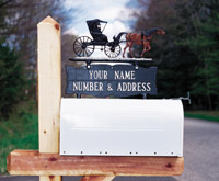 Mailbox Signs & Colored Ornaments