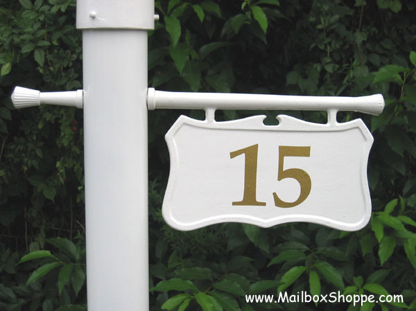 Image is loading Personalized-L&-Post-Address-Number-Sign-or-Cast- & Personalized Lamp Post Address Number Sign or Cast Hanging Light ...
