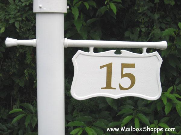 Sign Mailbox Address Lamp Post, Lamp Post Hanging Address Sign