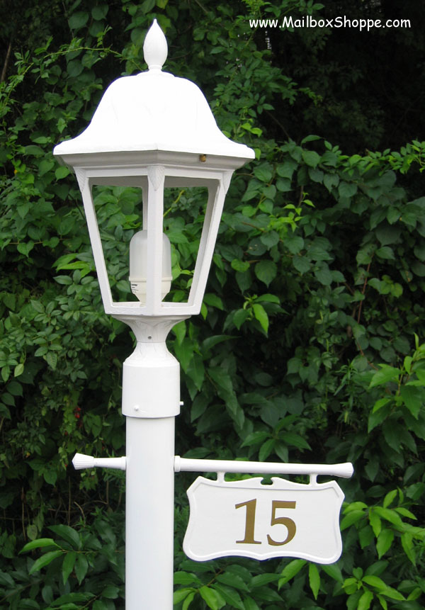 Cast Hanging Light Pole, Lamp Post Address Sign