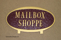 Small Oval Mailbox Sign