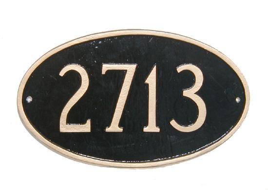 house number plaque wooden modern design wood oval sign