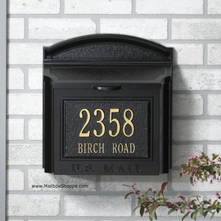 custom wall mount mailbox.  Mount Whitehall Mailbox Custom Mailbox Address Sign And Custom Wall Mount R