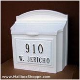 custom wall mount mailbox. Brilliant Mount White Whitehall Wall Mount Mailbox With Custom Sign Throughout Custom O