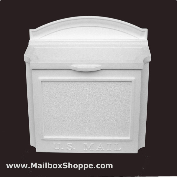 White Whitehall Wall Mount Mailbox With No Custom Sign