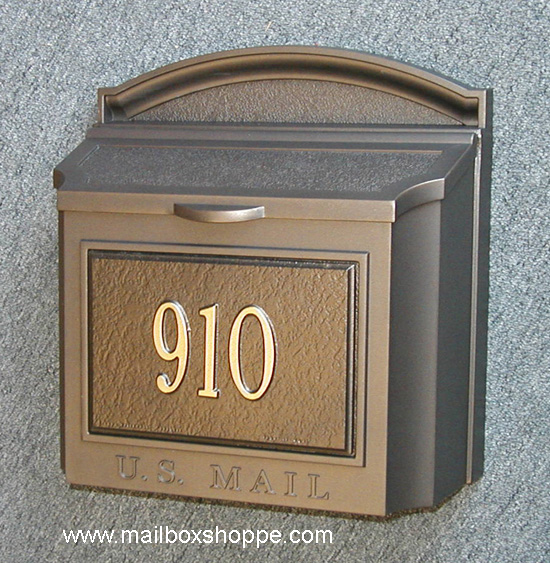 Captivating Bronze Whitehall Wall Mount Mailbox With Custom Sign