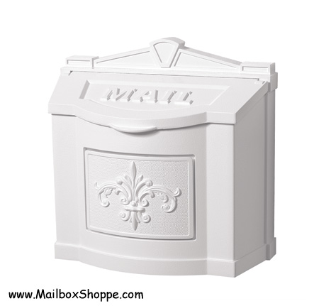 wall mount residential mailboxes. Solid White Wall Mount Residential Mailboxes R