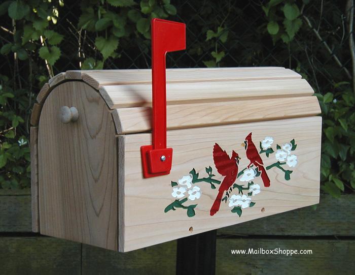 Decorative Cedar Mailboxes