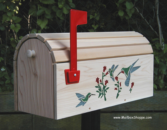 cedar slat hummingbird mailbox - Decorative Mailboxes