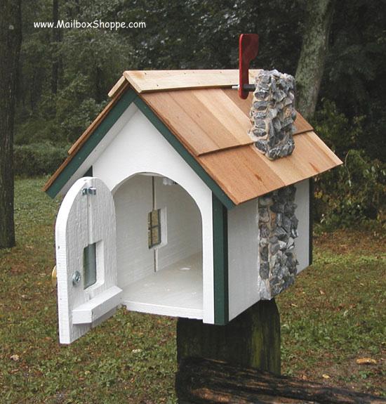 Wood Cottage Mailbox
